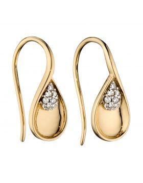 Teardrop Diamond Earrings (GE2370)