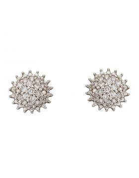 Urchin Diamond Cluster Earrings in Yellow Gold (GE2382)
