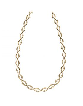 Open Eye Link Necklace in Yellow Gold (GN344)