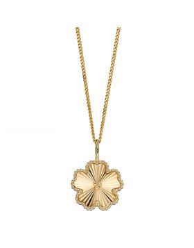 Flower Pendant in Yellow Gold (GP2249)