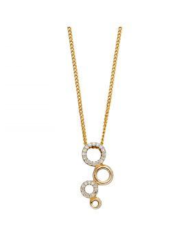 Diamond Bubble Pendant in Yellow Gold (GP2253)