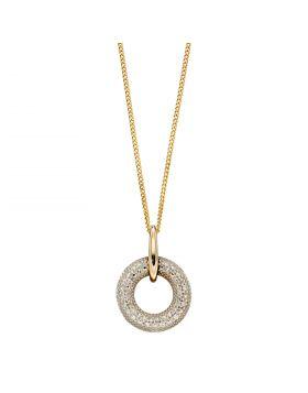 Donut Diamond Pendant in Yellow Gold (GP2257)