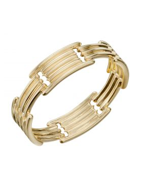 Column Long Bar Ring in Yellow Gold (GR578)