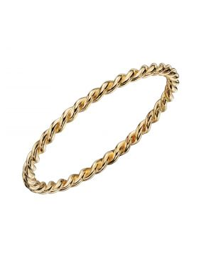 Twisted Band Ring in Yellow Gold (GR587)