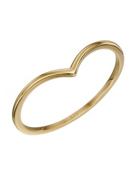 V Shape Band Ring in Yellow Gold (GR588)