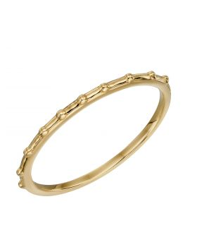 Stippled Edge Band Ring in Yellow Gold (GR589)