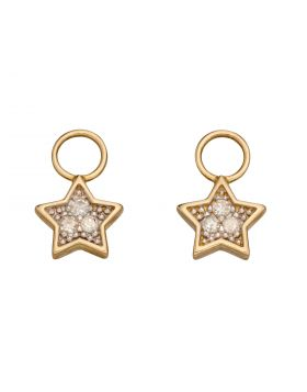 Star Diamond Charms in Yellow Gold (GY015)