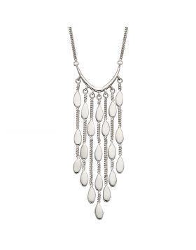 Drop Oval Shaped Waterfall Necklace (N4397)