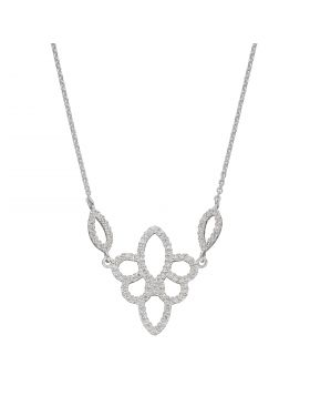Lace Effect CZ Necklace (N4405C)