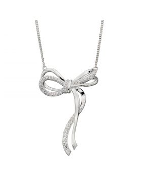 Pave Bow Necklace (N4406C)