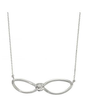 Loose Knot Accent Necklace with CZ (N4414C)