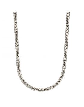 Stainless Steel Plaited Fox Chain Necklace (N4462)