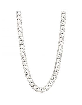 Sterling Silver Diamond Cut Curb Chain Necklace (N4463)