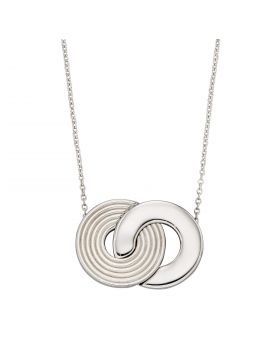 Recycled Silver Textured Necklace (N4471)