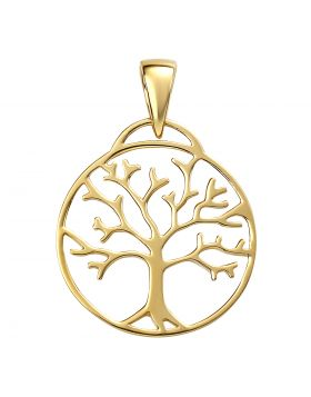 Gold Plated Tree of Life Pendant (P4867)