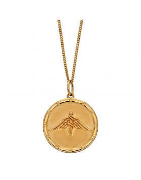 Goddess Medallion with Yellow Gold Plating (P4899)