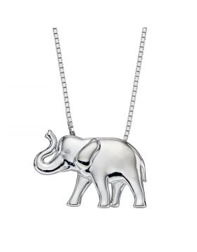 Silver Elephant Pendant (P4929)