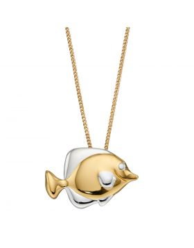 Yellow Gold Plated Fish Pendant (P4934)