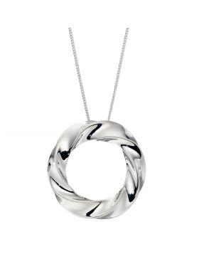 Organic Circle Twisted Pendant (P4935)