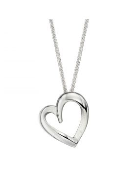 Textured Heart Pendant (P4936)