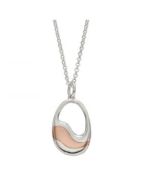 Oval Pendant with Rose Gold Layers (P4956)
