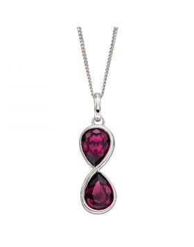 Infinity Amethyst Crystal Pendant (P5040M)
