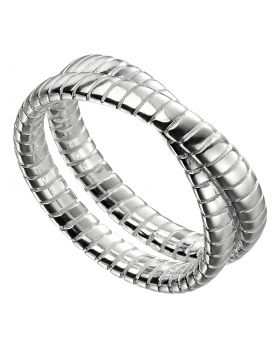 Double Band Textured Ring (R3725)