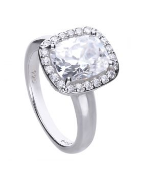 Cushion Cut Cocktail Ring with Diamonfire Cubic Zirconia (R3746)