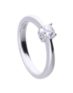 Four Claw Solitaire Ring 0.50ct with Diamonfire Cubic Zirconia (R3750)