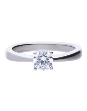 Four Claw Solitaire Ring 0.75ct with Diamonfire Cubic Zirconia (R3751)