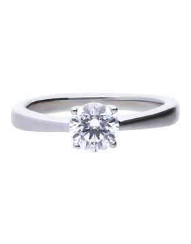 Four Claw Solitaire Ring 1ct with Diamonfire Cubic Zirconia (R3752)