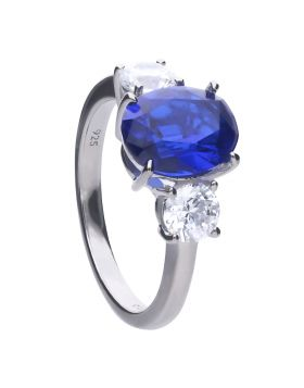 Oval Sapphire Trilogy Ring (R3762)