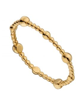 Yellow Gold Plated Small Bead Ring (R3767)