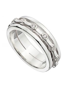 Spinner Ring with CZ (R3772C)
