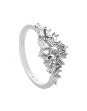 Baguette Diamonfire Zirconia Scatter Ring (R3783)
