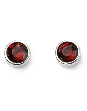 Silver Crystal Birthstone Earrings