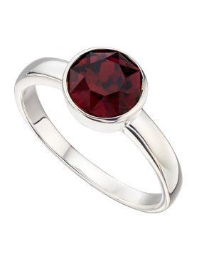 Silver Crystal Birthstone Ring