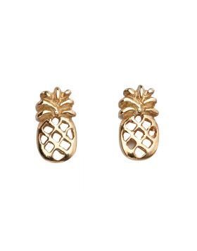 A2003 ROSE GOLD PLATE Pineapple STUD