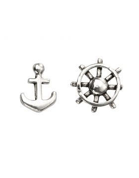 A2007 Anchor and Ships Wheel STUD