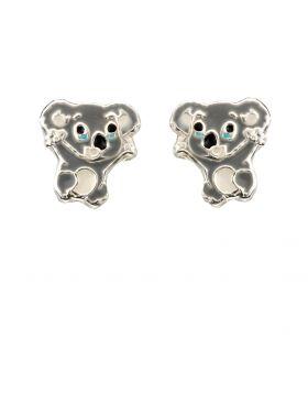 Enamel Koala Stud Earrings
