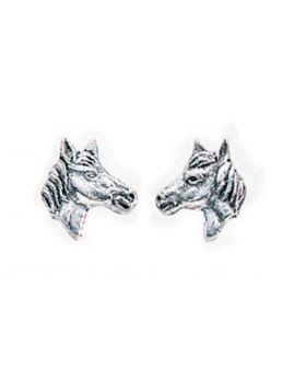 Horse's Head Stud Earrings (A737)