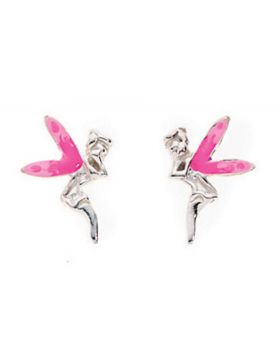 A802P PINK Winged Fairy STUD