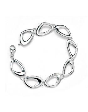 Cut Out Pebble Shape Link Bracelet