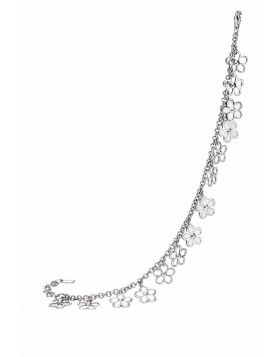 White flower charm bracelet