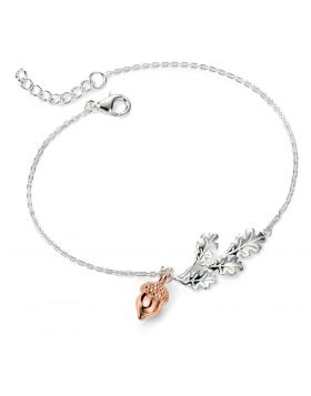 Rose Gold Acorn Bracelet (18-20cm)