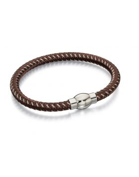 Brown and Grey Nylon Bracelet
