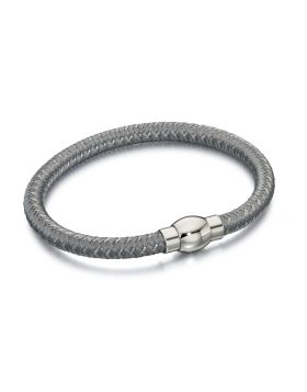 Silver and Grey Nylon Bracelet