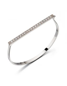 B4861C FIOR CLEAR CZ Pave Hinged BNG