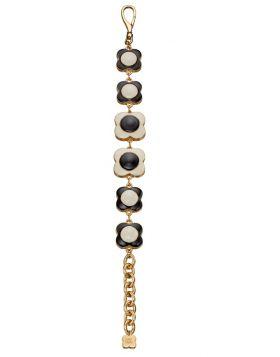 Black and Cream Flower Bracelet