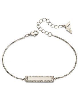 Fiorelli Fashion Imitation Rhodium Crystal Bar Bracelet